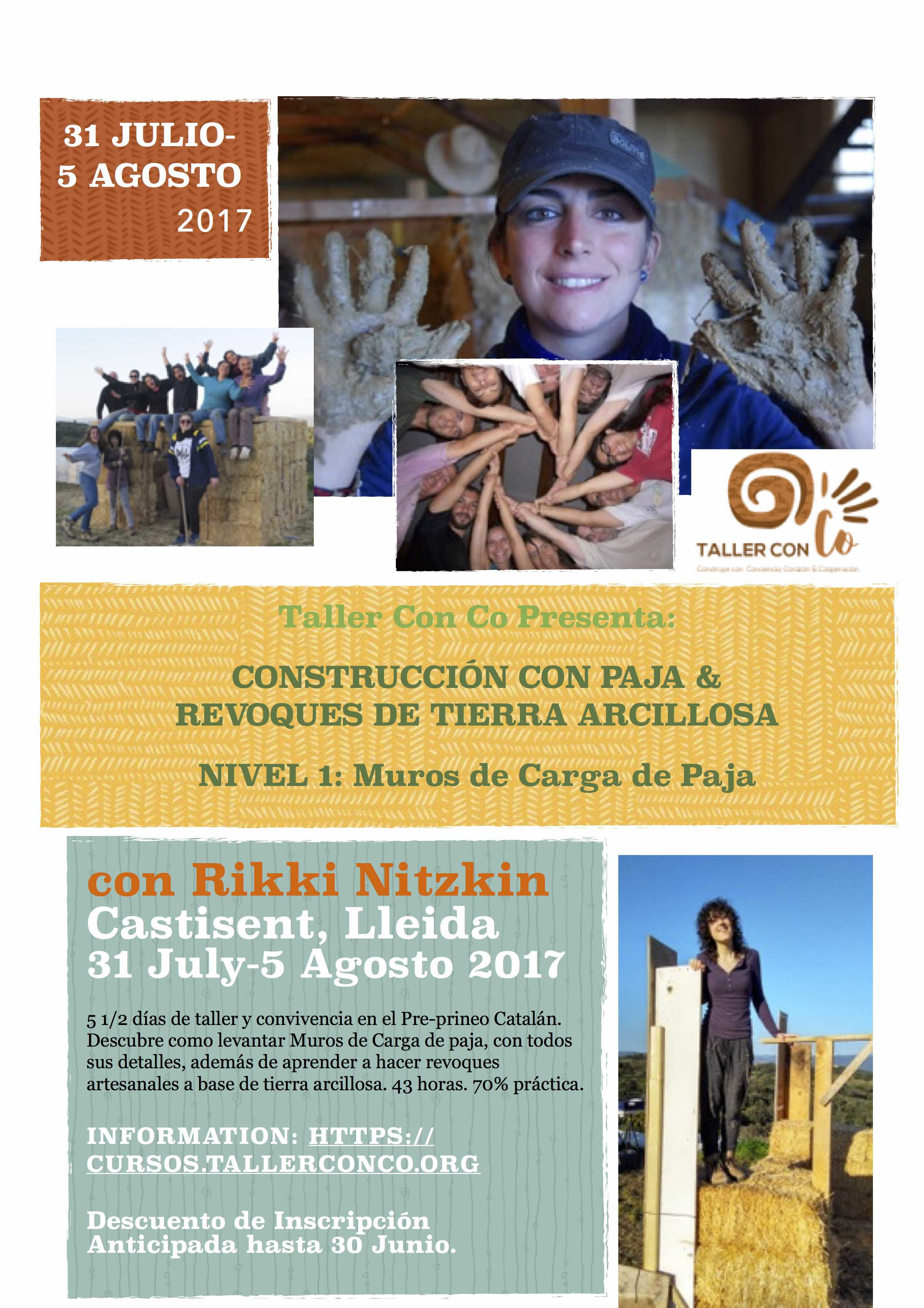 Descuento de Inscripción Anticipada: Taller Nivel 1 en Lleida (31 Julio-5 Agosto)