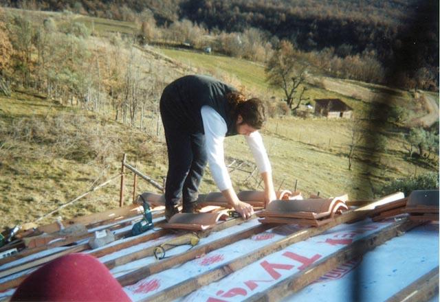 Colocando teja