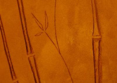 detalle bambú impreso