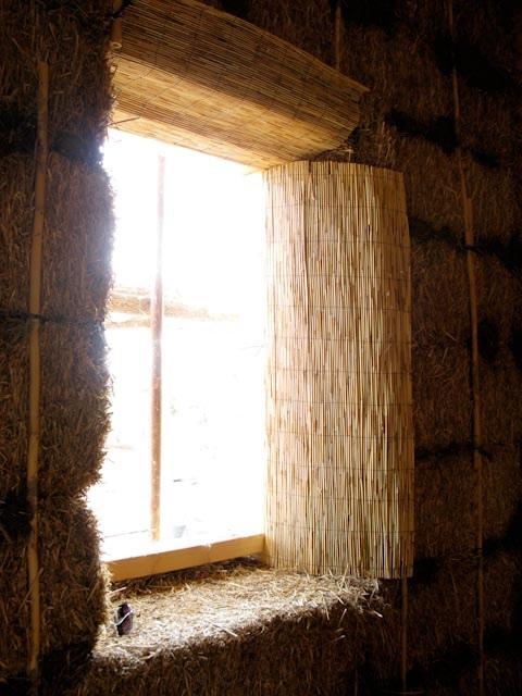la juntas y curvas reforzadas con cañizo de bambú