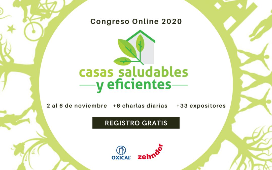 II CONGRESO CASAS SALUDABLES Y EFICIENTES – 2-6 Noviembre. Gratis